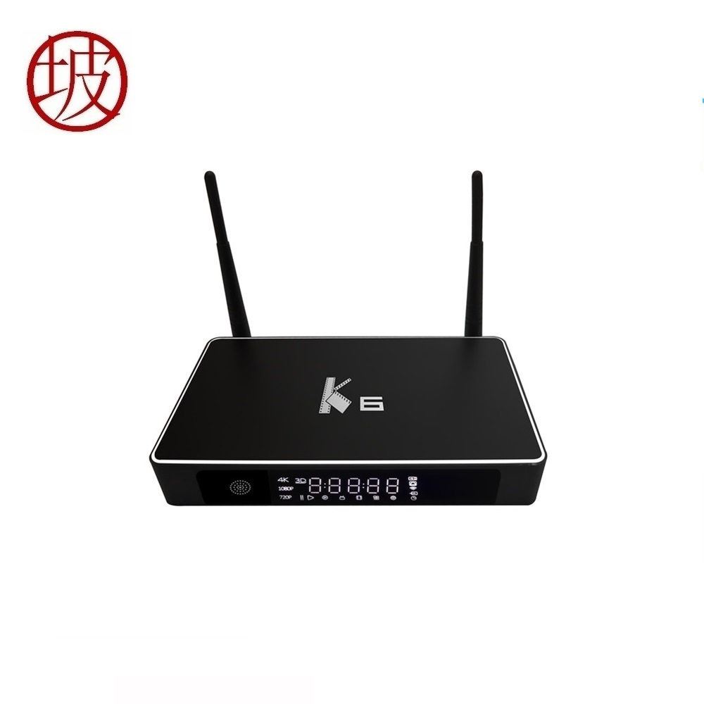 K6 TV Kutusu Amlogic S812 Android 5.1.1 Quad-core 2.4 GHz/5 GHz WiFi Bluetooth 4.0 2 GB 8 GB 4 K 3D Miracast Smart Media Player