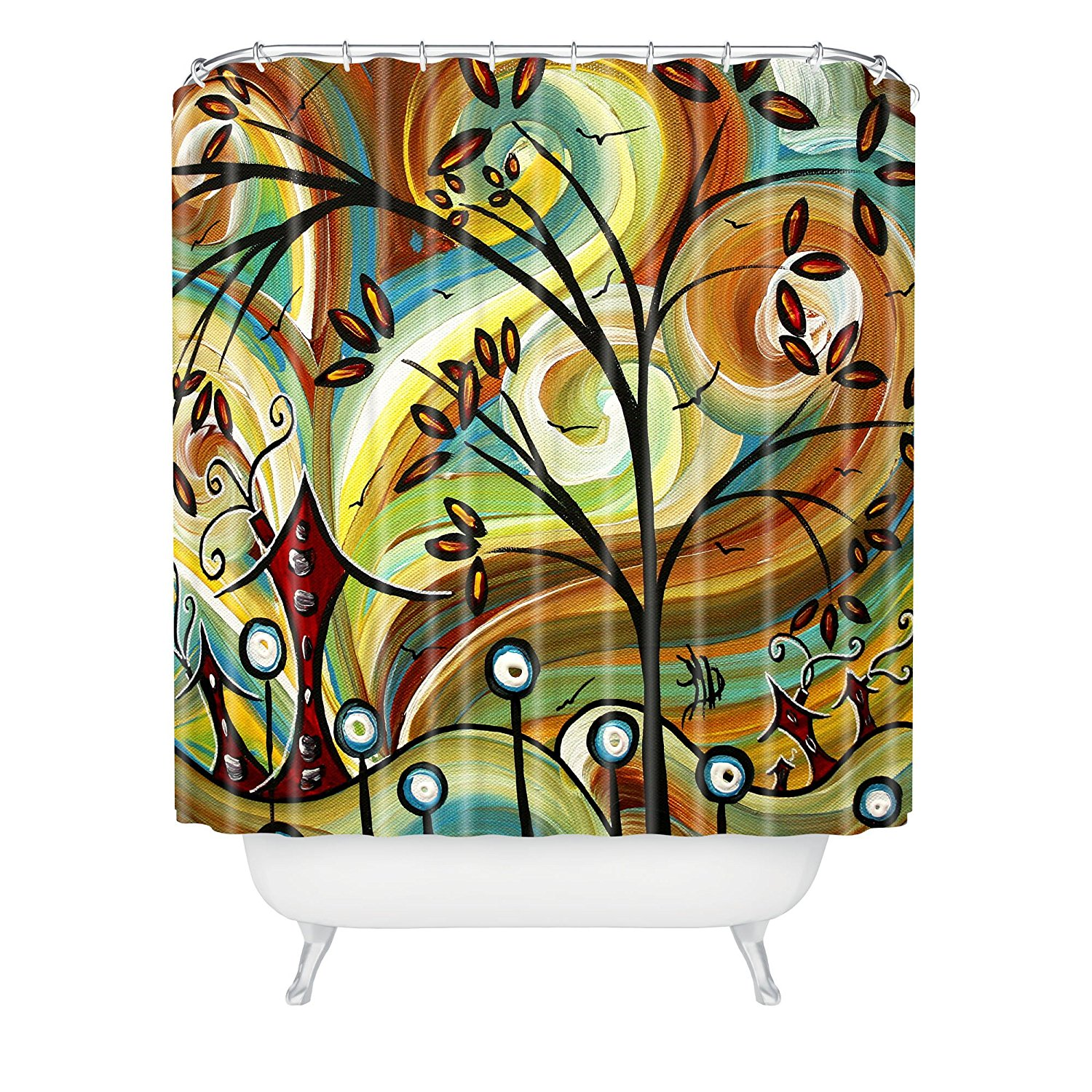 CHARMHOME Madart Inc. Fall Colors Duş Perde, 72x72 in