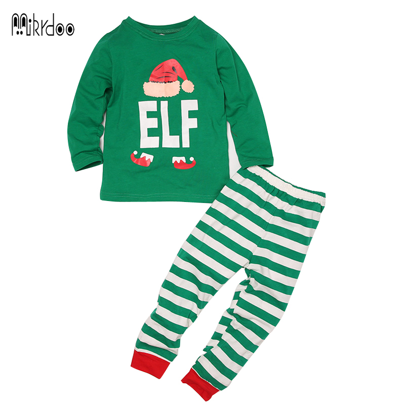 2017 Family Christmas Pajamas Family Matching Clothes Set Mother and Daughter Clothes Women Baby Kids Sleepwear Nightwear Suit