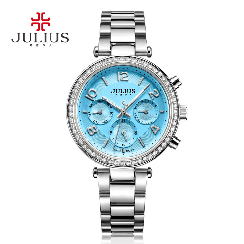 Real Functions Women&39;s Watch ISA Quartz Hours Fashion Dress Sport Stainless Steel Birthday Girl Birthday Gift Julius Box